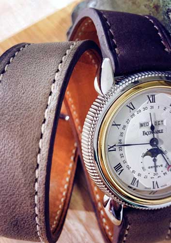 Bracelet montre Atelier du croco